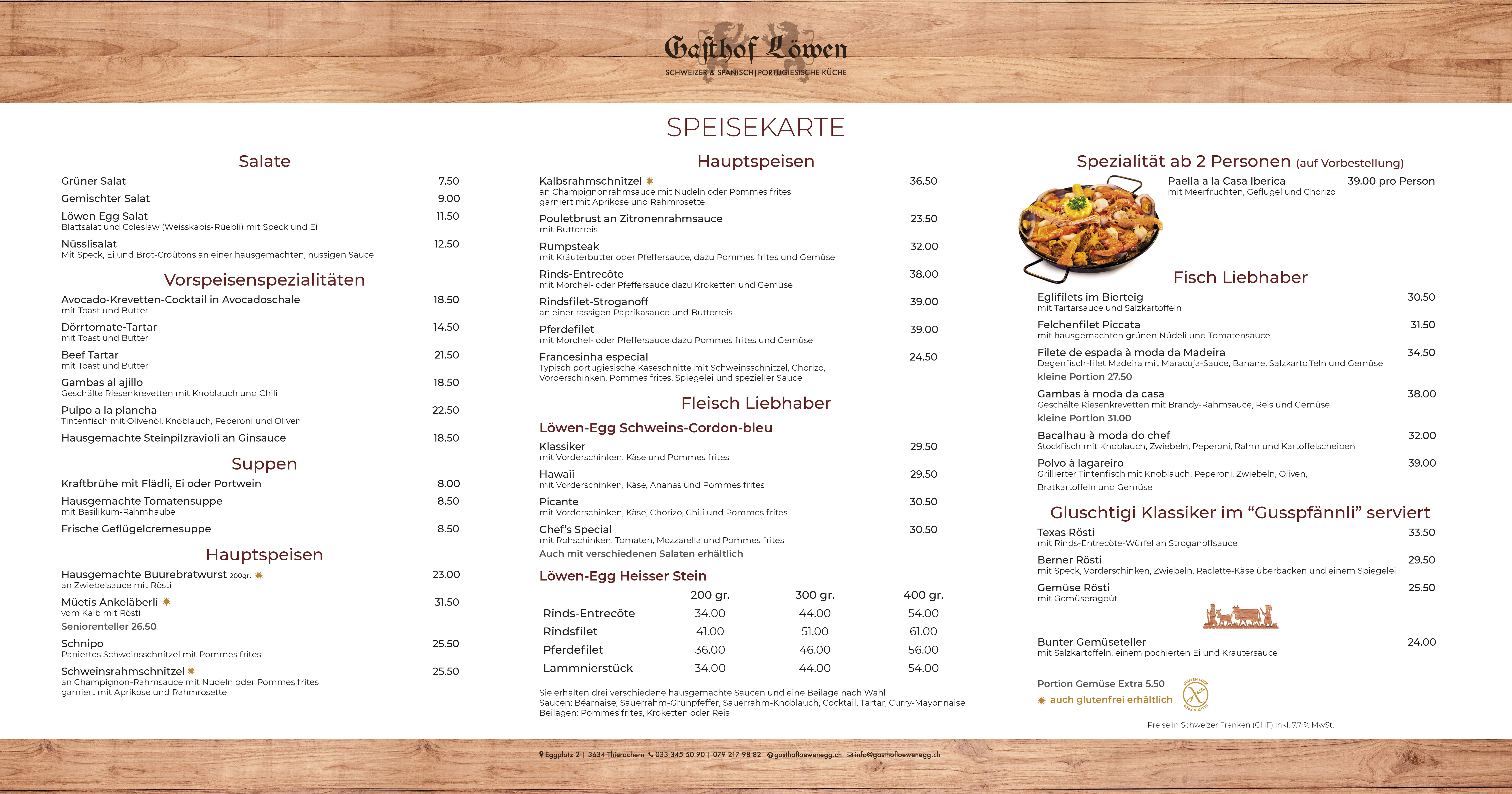 Speisekarte restaurant ambrose bettingen switzerland immobilien 54646 bettingen bs